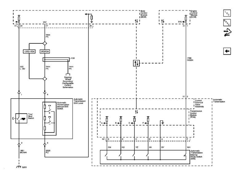 Wiring Diagram For 4l60e Transmission  With Images