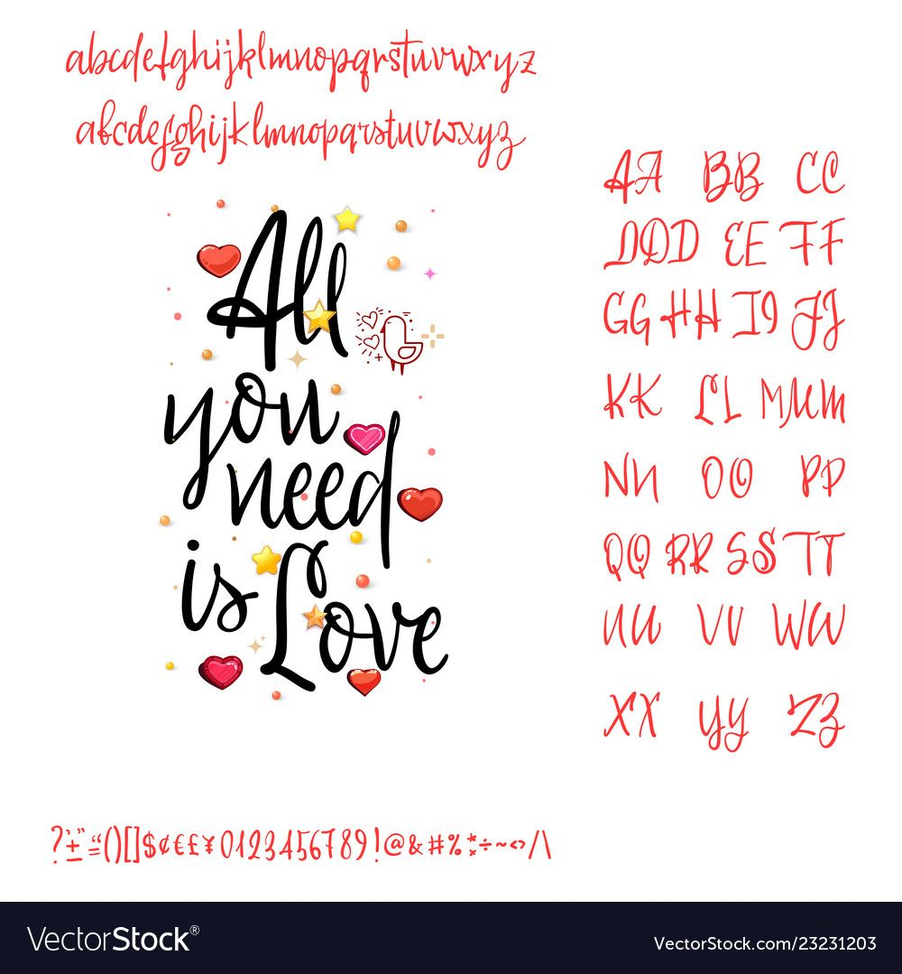 Download All you need is love modern calligraphy vintage vector ...