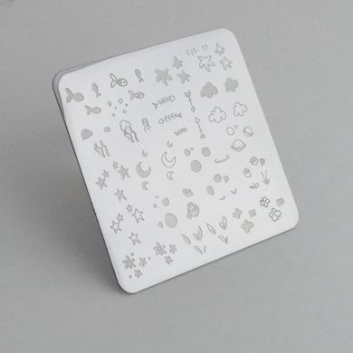Clear Jelly Stamper- MINI Sea and Stars Doodle (17)