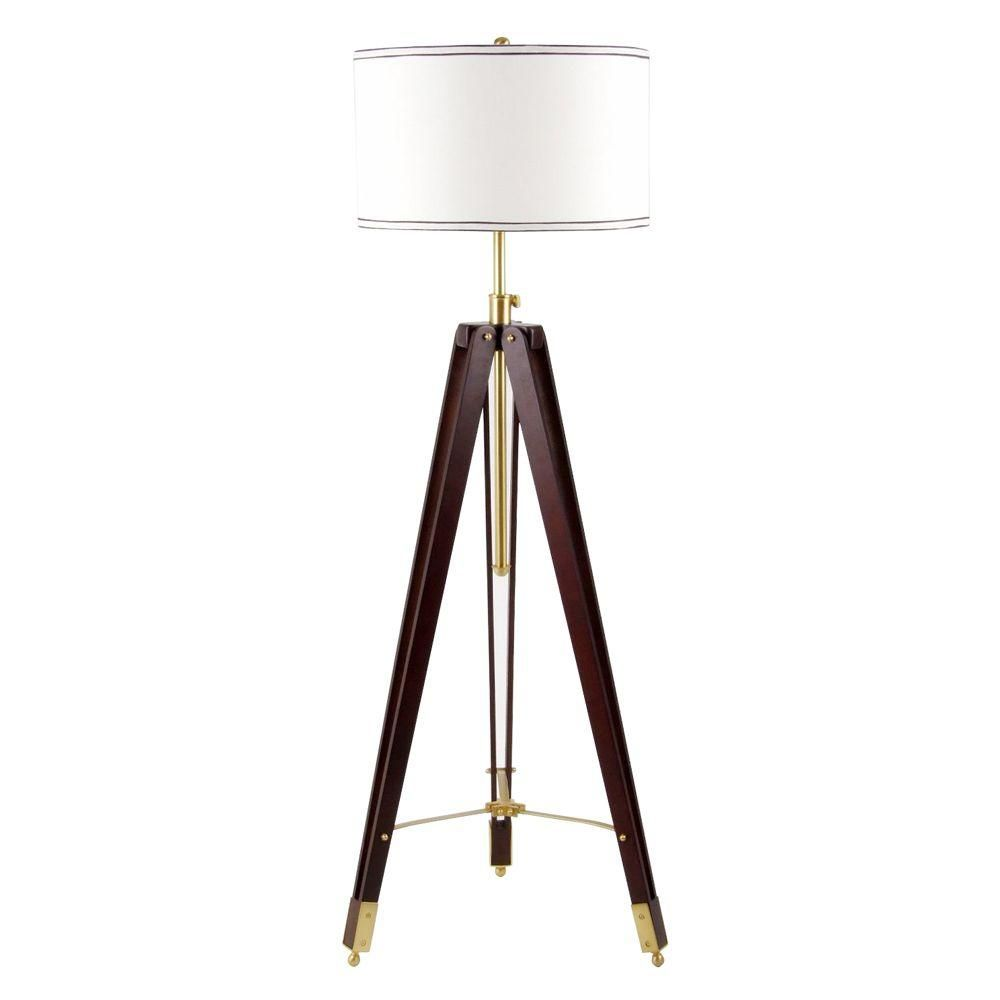 This On Trend Tripod Floor Lamp Includes A Cord Cover To