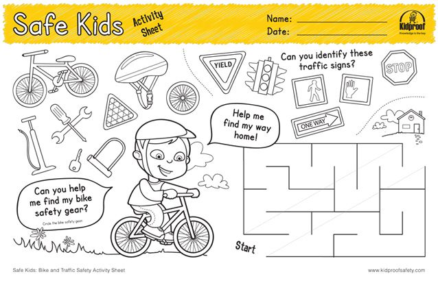 Kidproof Safety worksheet