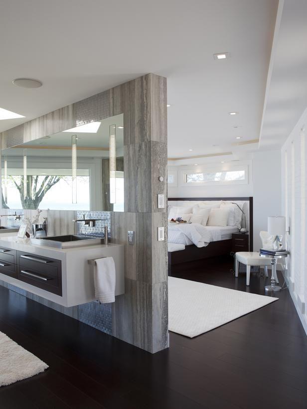 25 Sensuous Open Bathroom Concept For Master Bedrooms Modern Floor Plans Master Bedroom Bathroom Modern Bathroom Design