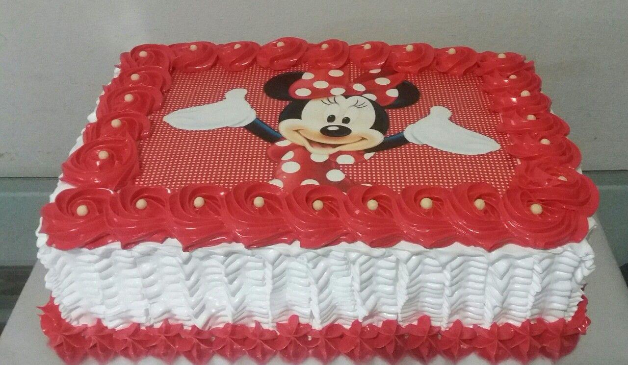Bolo Minnie Vermelho E Branco Bolo Minnie Bolo De Aniversario