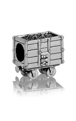 Evolve Coal Carriage - Sterling Silver Charm