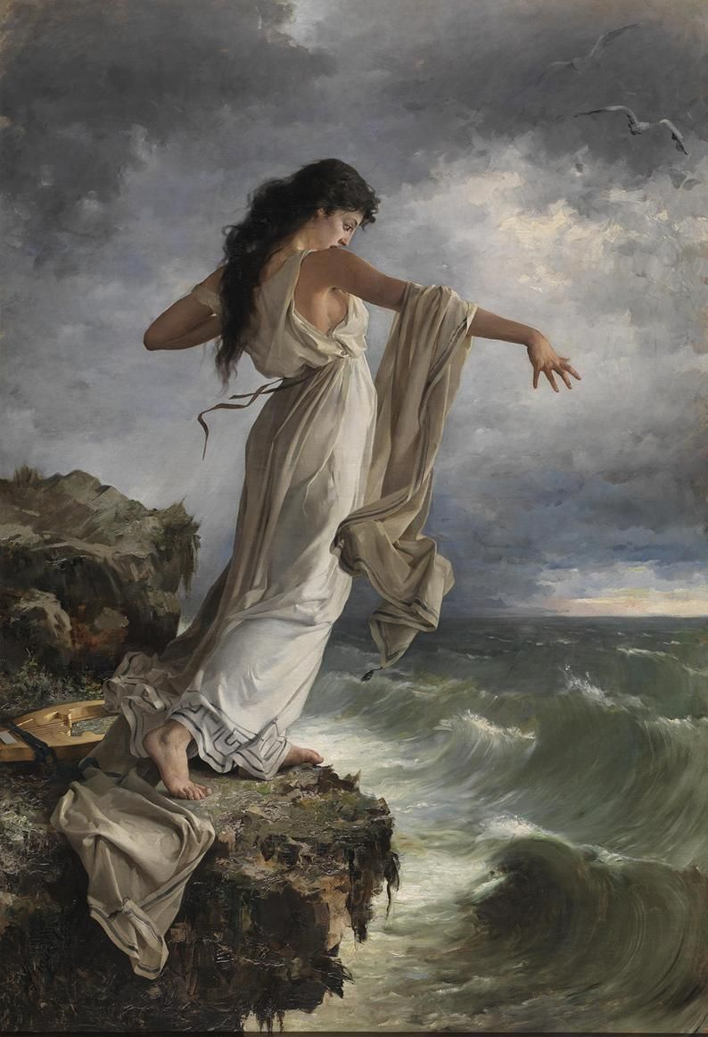 Romantic Age art - Sappho - Goddess of Love ~ Classic Wall Art ~ 2nd Century Woman Poet