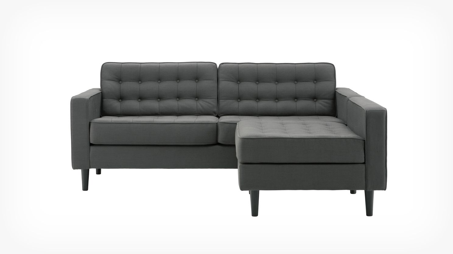 Reverie 2 Piece Sectional Sofa With Chaise Fabric Eq3 Modern Furniture