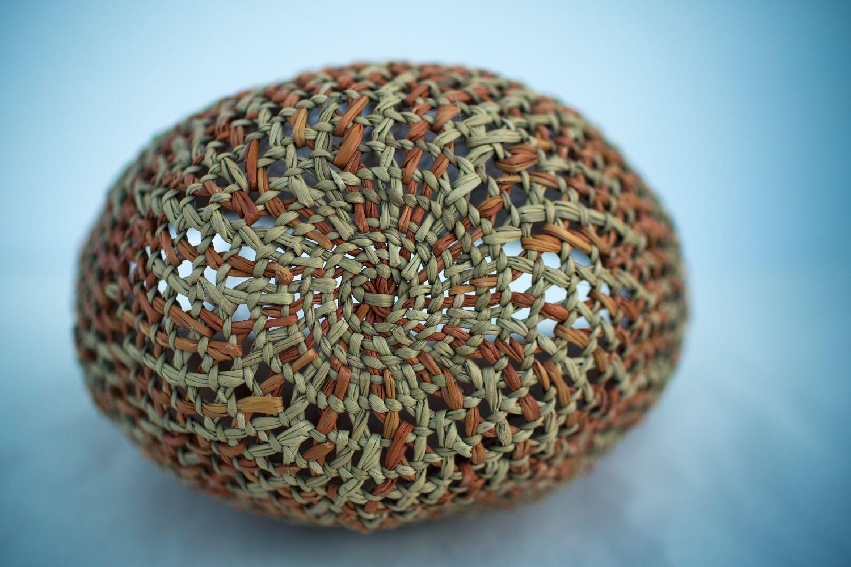 Openwork Pandanus Basket By Rosie Bindal Bindal Yilan Near