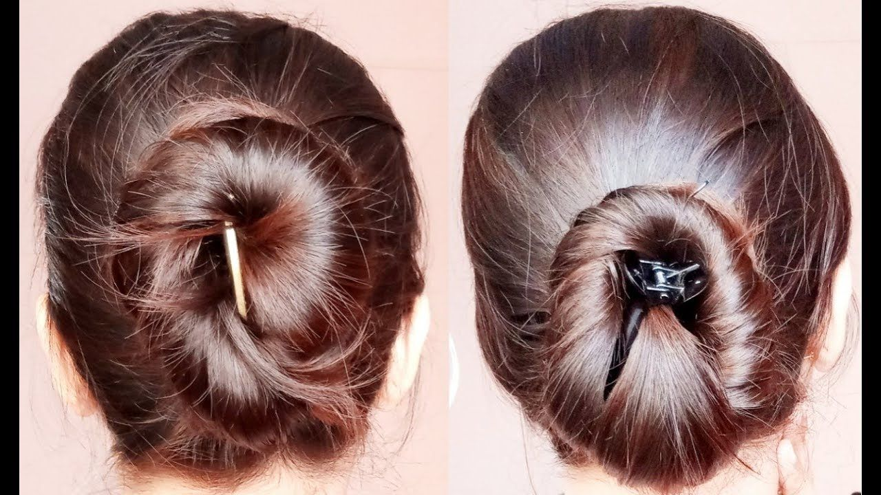 2 Quick Banana Clip Clutcher Bun Hairstyles Everyday Easy Simple Hairstyles Alwaysprettyuseful Youtube Hair Styles Everyday Hairstyles Womens Hairstyles