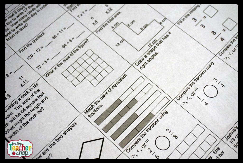 Spiral Math Homework to Reinforce the Standards   Homework, Maths ...