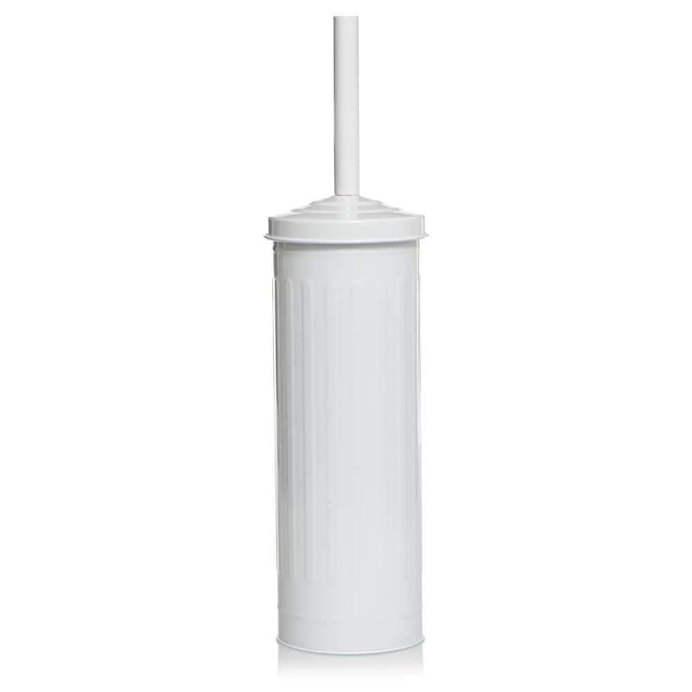 wilko retro toilet brush holder white to match the bin