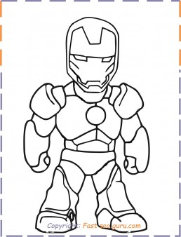 Free Coloring Pages Iron Man Background