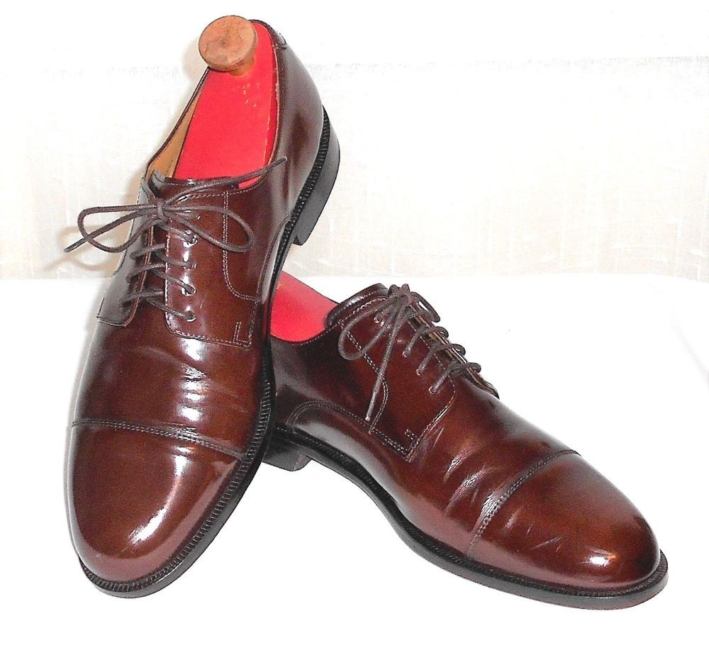 COLE HAAN LEATHER OXFORD DRESS SHOE - BROWN - Sz 10.5M