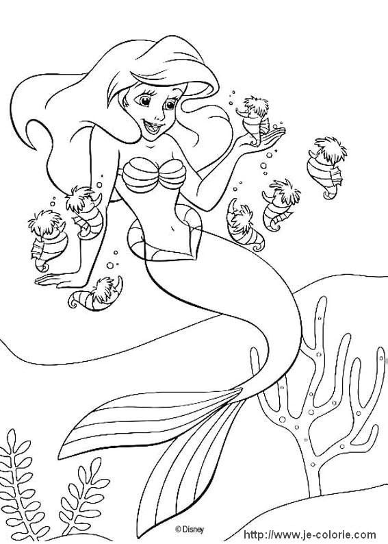 Coloriages La petite sirène masha cp Pinterest Ariel, Free - new little mermaid swimming coloring pages