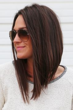 Long Angled Bob #LongBob More | Adorable in 2018 | Hair styles, Hair ...