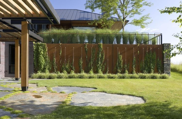 Brise vue jardin et d co en acier corten 30 id es splendides brise vue jardin brise vue et - Idee brise vue ...