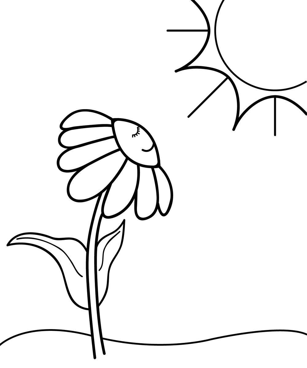 Coloring Clip Art Clip Art Illustration Of A Cartoon Daisy