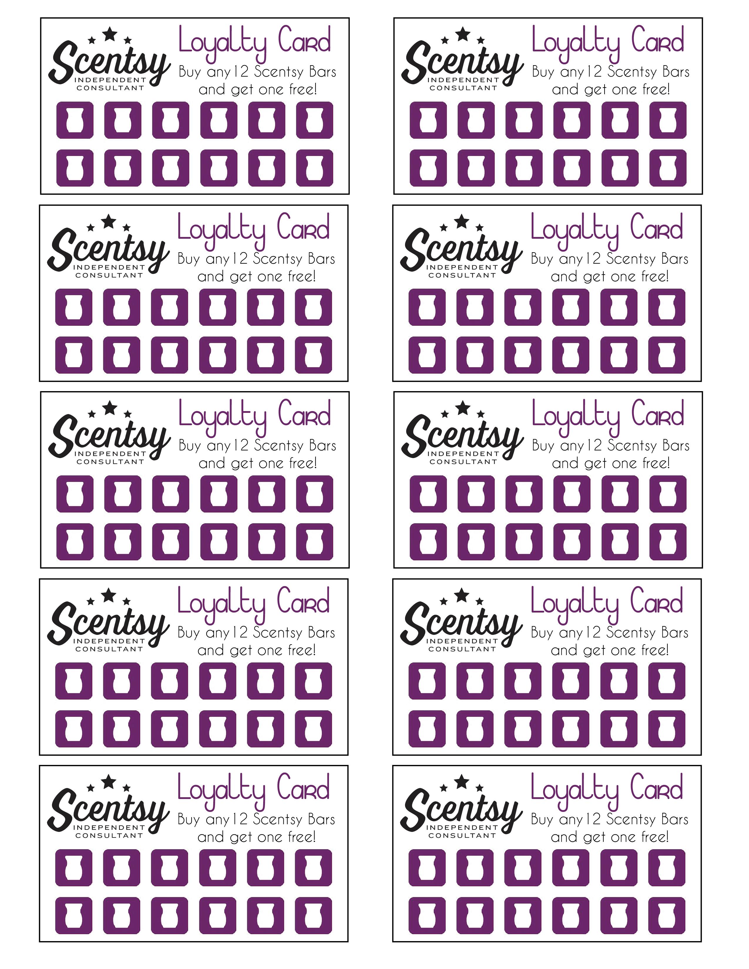scentsy loyalty card  u2026