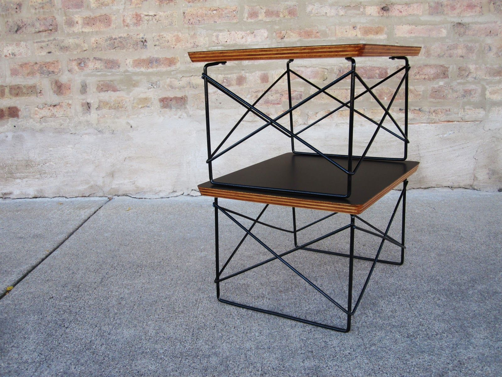 Eames sidetable ltr vindustrial shelter pinterest interiors sold w x d x h these are eames wire base ltr tables reminiscent of the eiffel chair these small tables could be used as keyboard keysfo Gallery