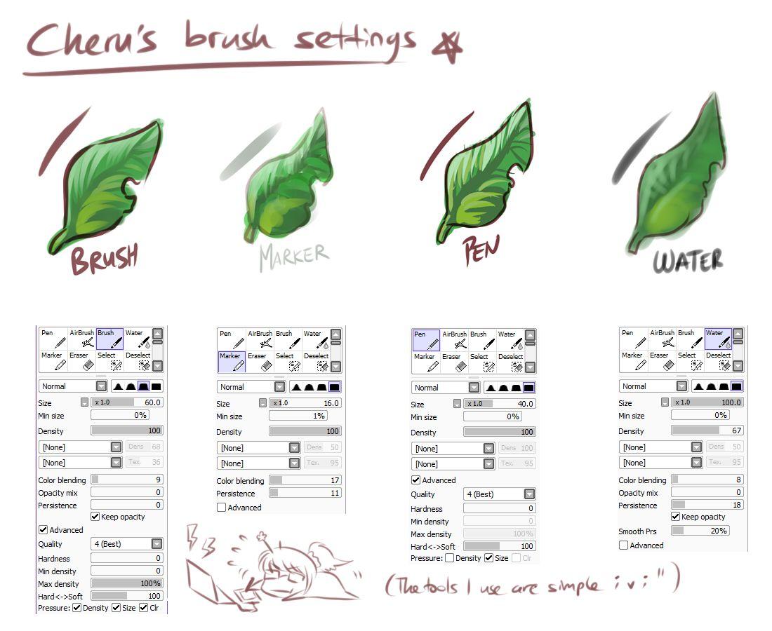 Paint Tool Sai Leaf Setting