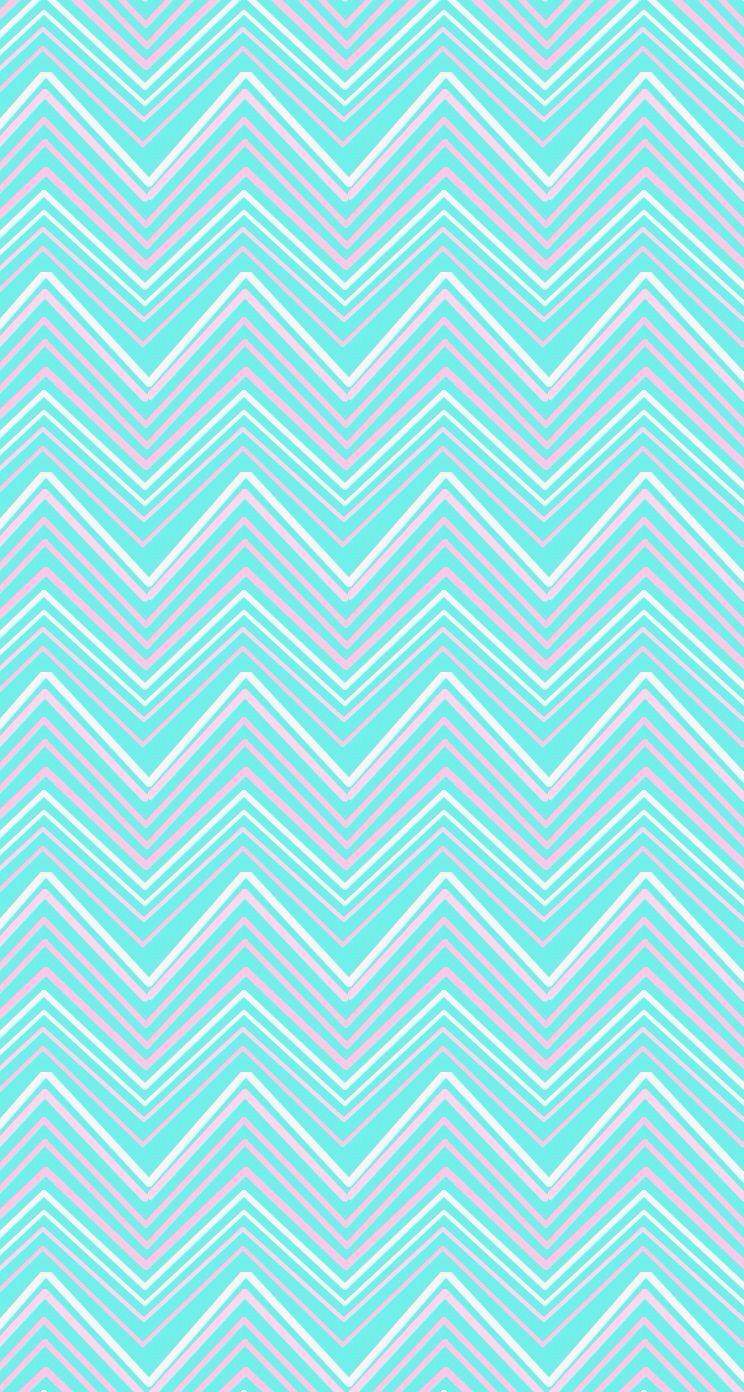 Aqua Blue Pink Chevron Iphone Wallpaper Phone Background