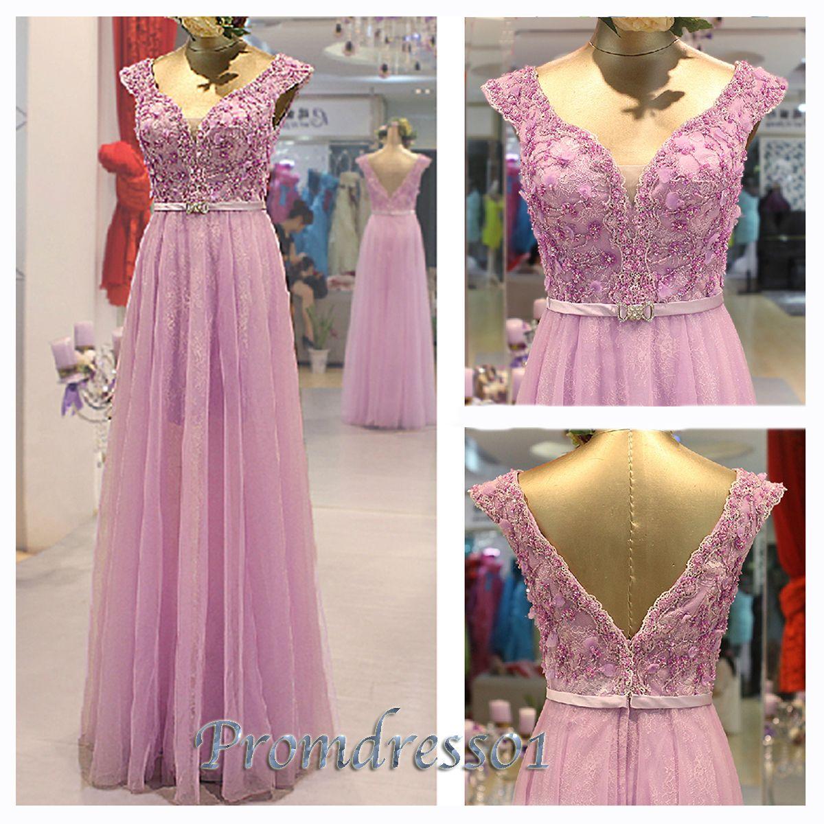 2015 cute lavender chiffon prom dresss | DRESS | Pinterest | Trajes ...