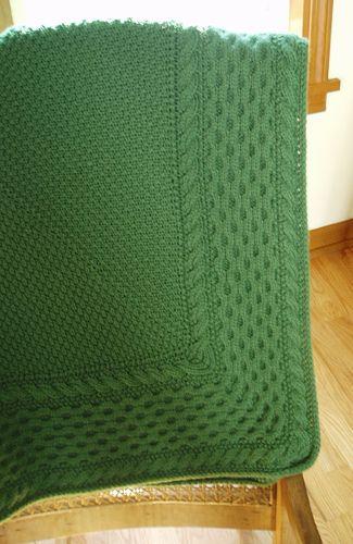 Inspiration :: Celtic Baby Blanket by Knittingem. Beautifully ...