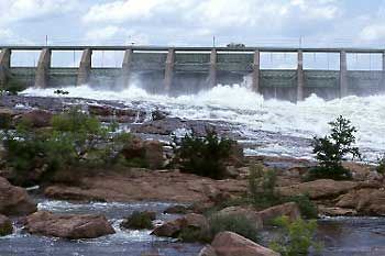 Buchanan Dam Texas - We have gone camping here at the campground.