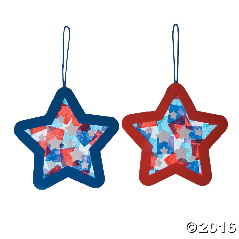 Tissue Paper Patriotic Star Ornament Craft Kit
