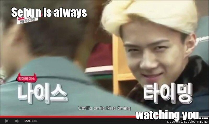 Honestly....I don't think i would mind if Sehun was my stalker😊😍