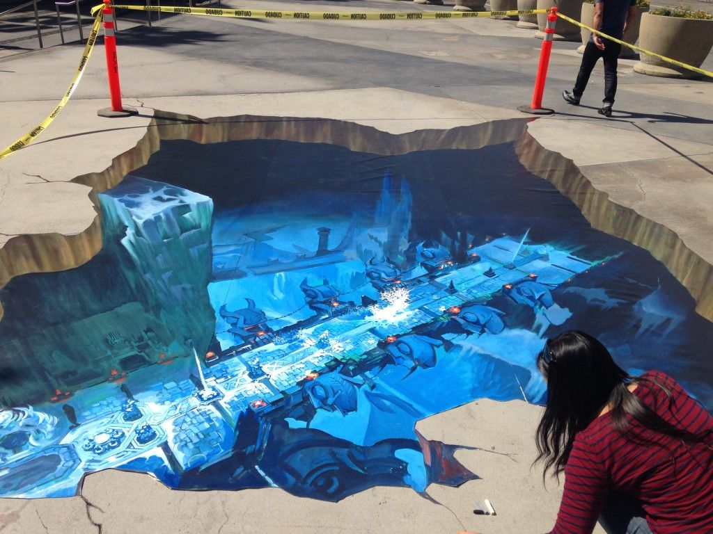 Large 3D Street Painting for Excellence Insurance in Tel Aviv ...