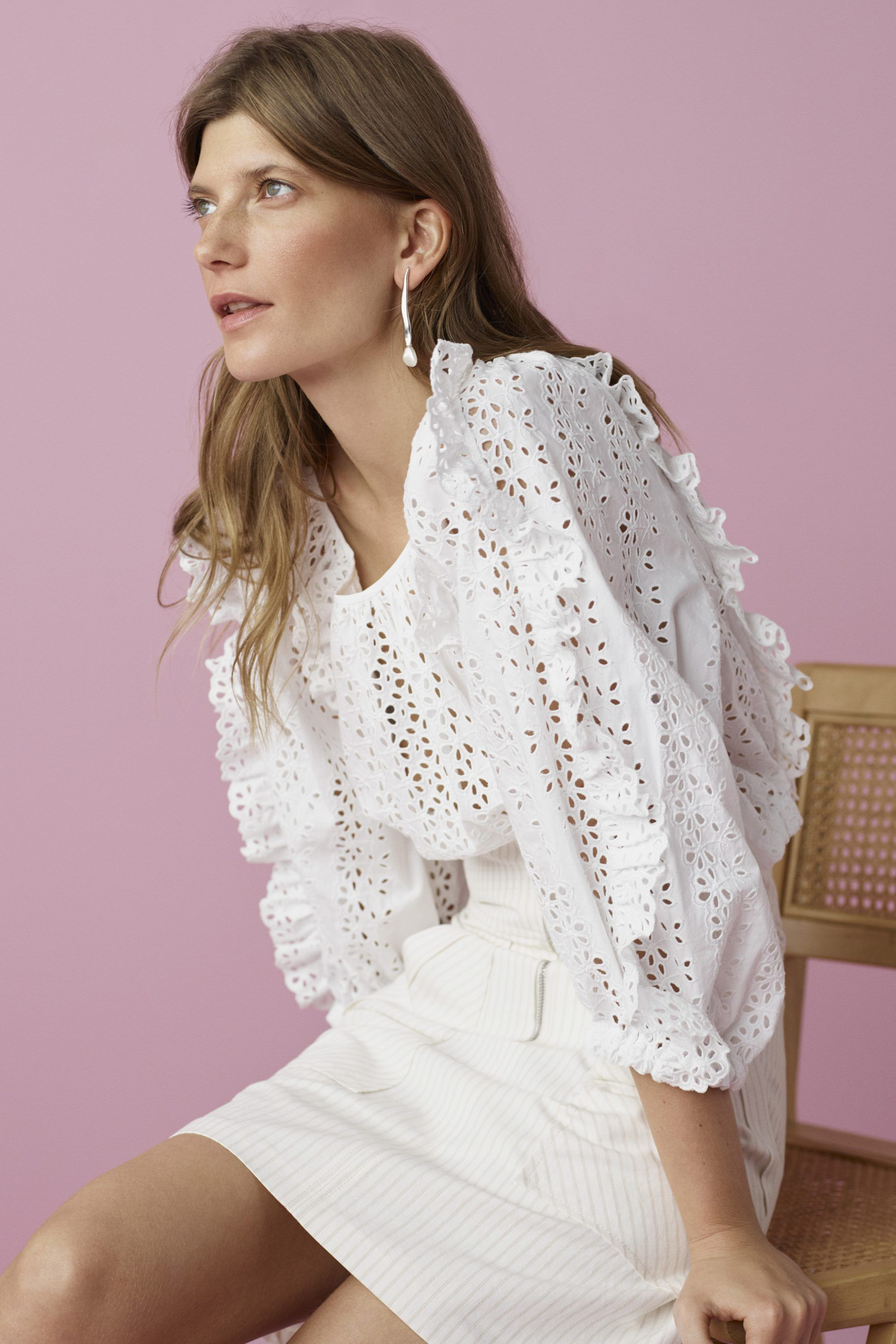 V neck white lace dress may 2019 Rebecca Taylor in   summer clothes  Pinterest  Fashion