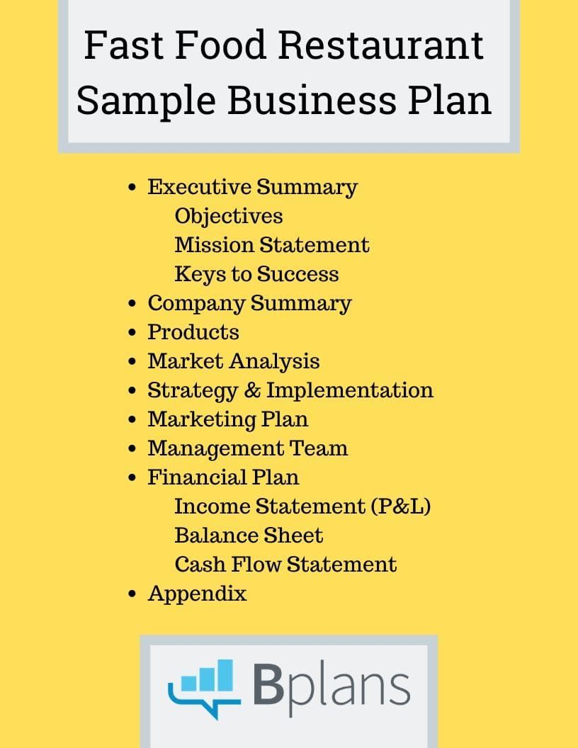 Restaurant Business Plan Template in 2020 Restaurant