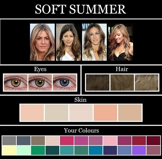 The Skin Tone Seasons Summer Grey Slate Grey Charcoal Light Desert Sand Khaki Taupe Icy Pink Rose Sof Summer Skin Tone Soft Summer Palette Soft Summer