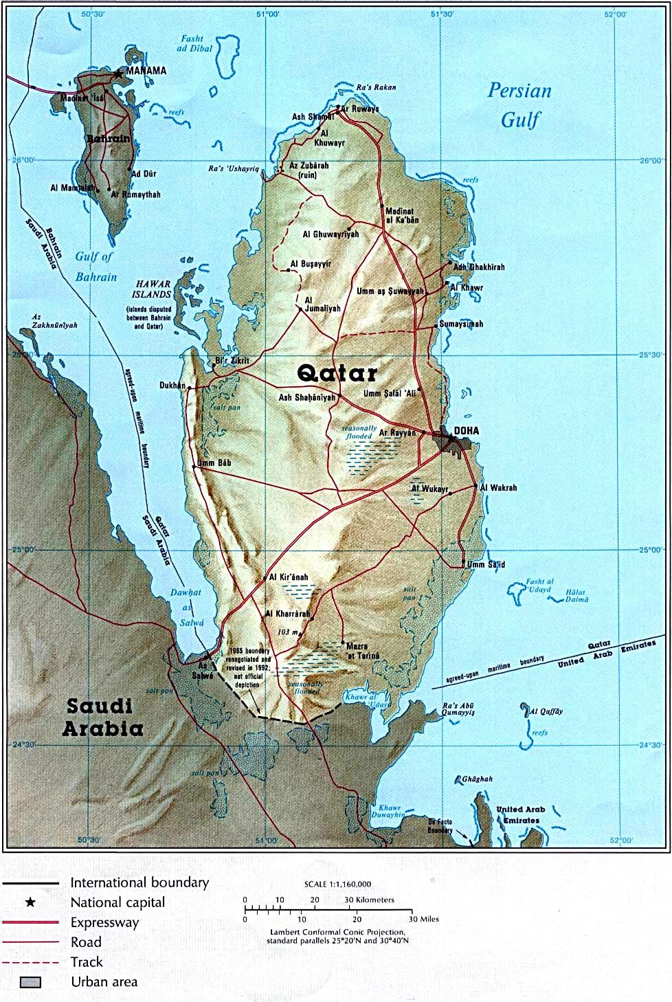 Qatar Country Map | maps | Qatar doha, Doha, Qatar flag on
