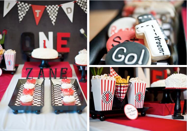 Retro S Race Car Themed Birthday Party Via Kara S Party Ideas
