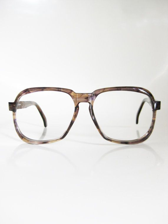 vintage italian eyeglasses mens aviator frames tortoiseshell dark brown chocolate 1970s 70s seventies guys homme italy