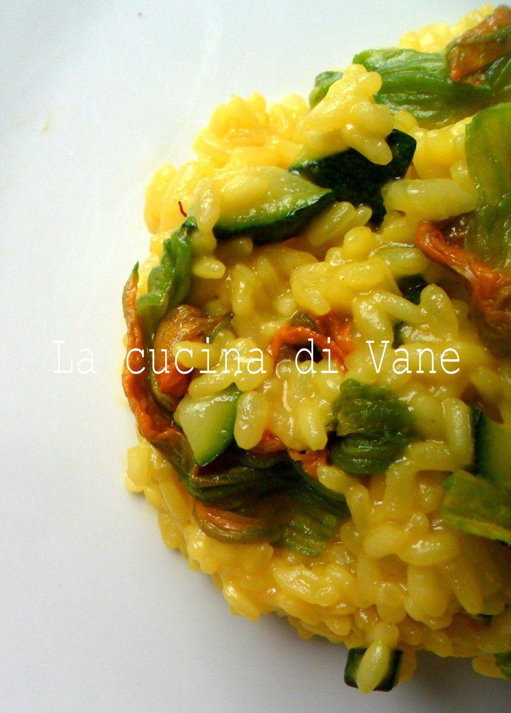 Risotto ai Fiori di Zucca e Zafferano - La Cucina di Vane