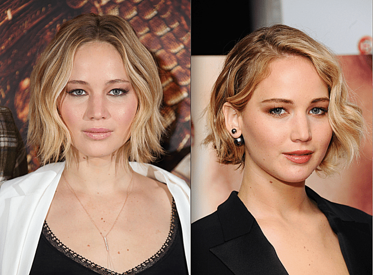 Short Hairstyles For Round Faces The Best Short Hairstyles For Round Face Shapes  Jennifer Lawrence
