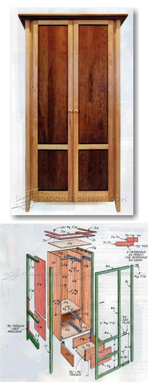Build Armoire - Furniture Plans and Projects   WoodArchivist.com ...