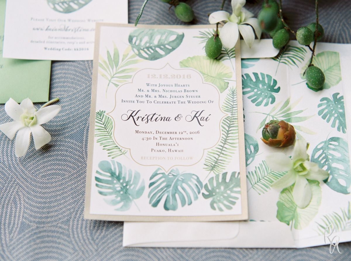 Kristina + Kai BL Real Hawaii Wedding | Tropical Wedding | Pinterest ...