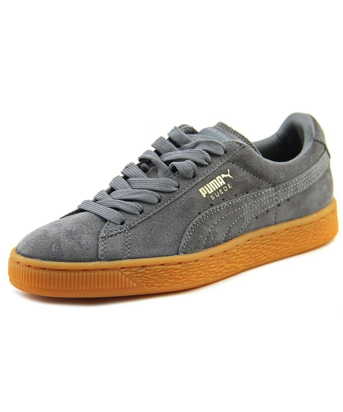 5982beb03f8 PUMA Puma Suede Winter Gum Youth Round Toe Leather Gray Sneakers .  puma   shoes  sneakers