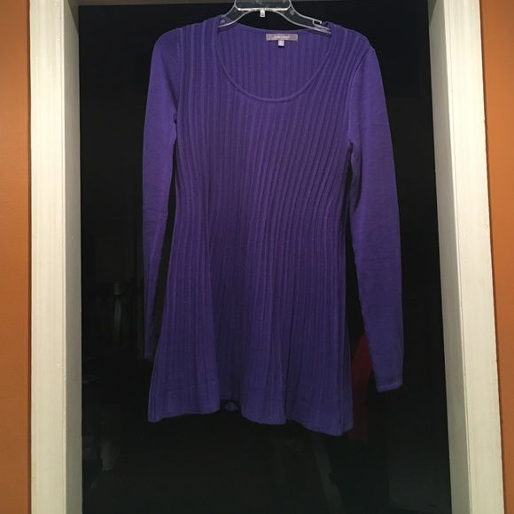 Blue sweater Bluish purple sweater (I see more blue but my mom sees more purple). Good condition Daisy Fuentes Sweaters Crew & Scoop Necks