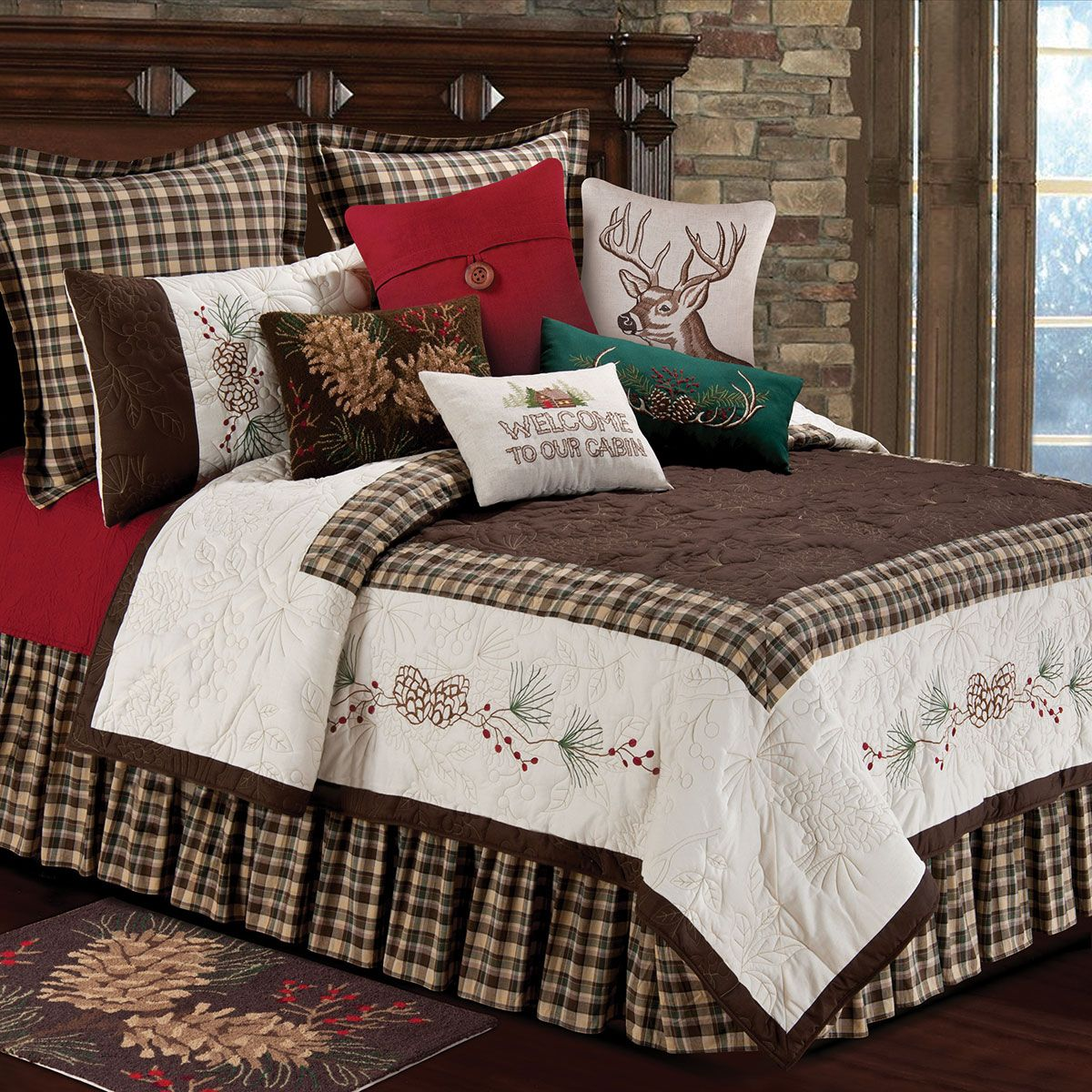 Lookout Mountain Quilt Full/Queen Rustic bedding