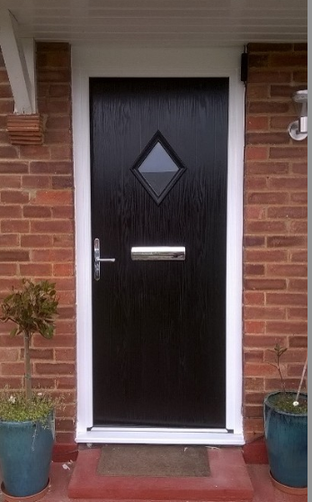 Black Edinburgh Diamond With Chrome Accessories A Door You Can Truly Love And It