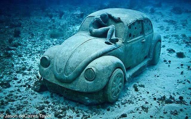Vw bajo el agua....