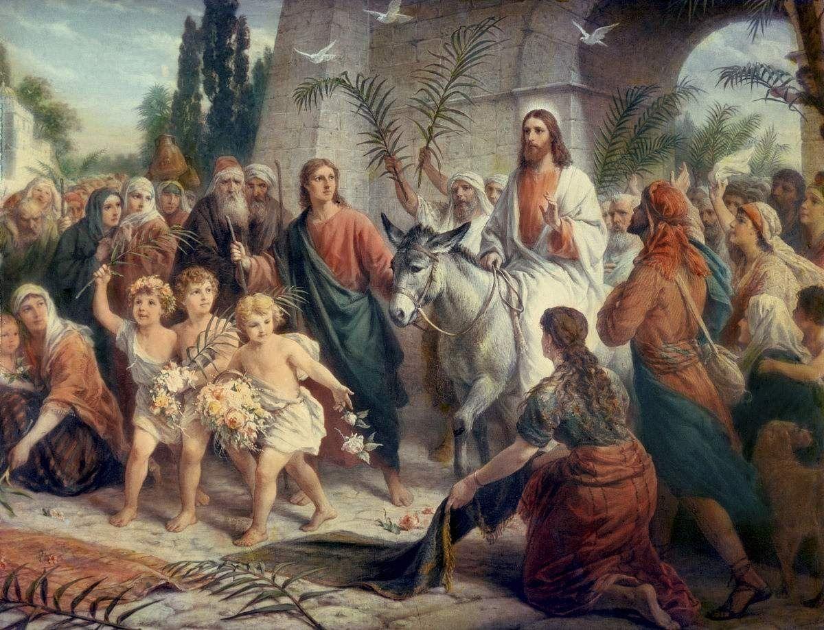 Вход Господень в Иерусалим - Вербное воскресенье   Holy week timeline, Palm sunday, Holy week
