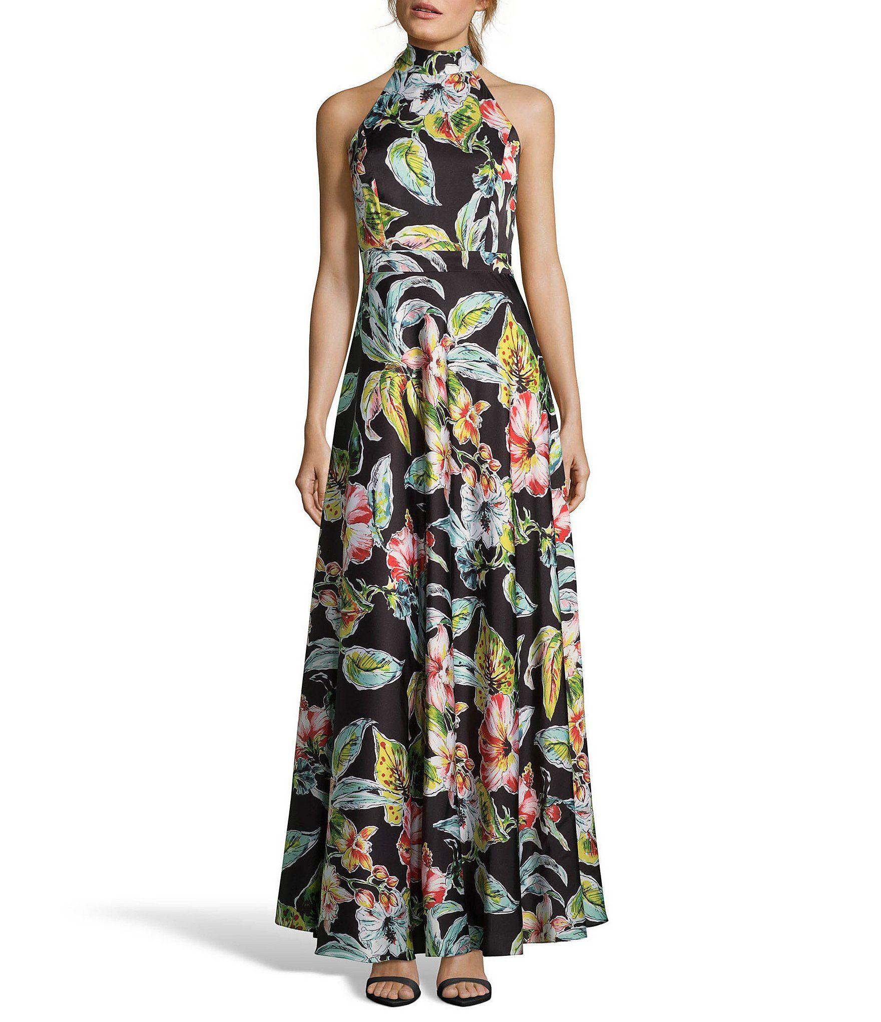 2dc023cef83 Shop for Nicole Miller New York Floral Print Halter Gown at Dillards.com.  Visit Dillards.com to find clothing