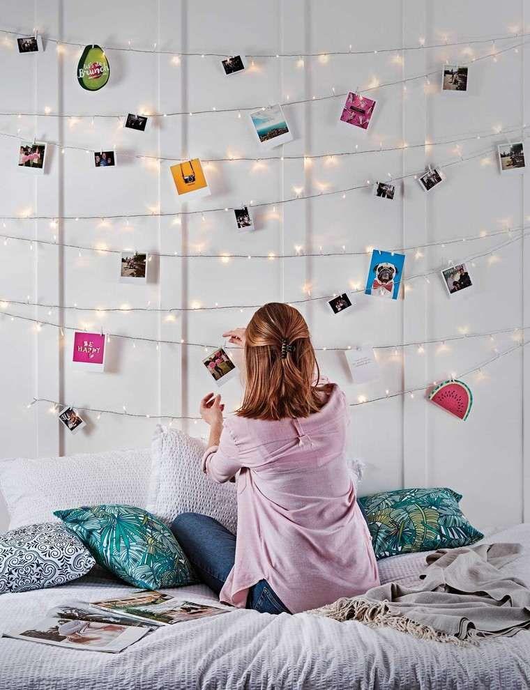 Deco Chambre Fille Ado Guirlande Lumineuse Idee Coussins Deco