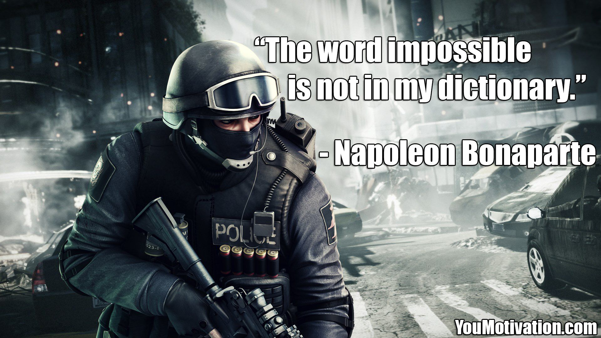 The Word Impossible Is Not In My Dictionary Napoleon