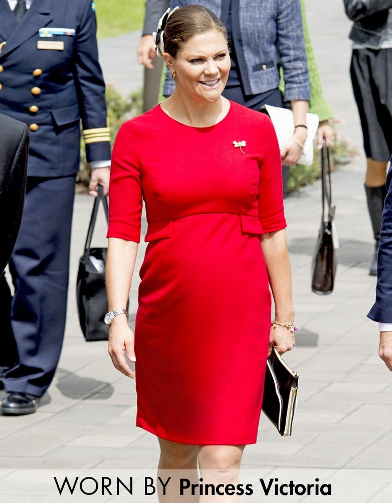44aee033cd Luxurious stretch fabric Flattering empire peplum Above the knee Worn by Crown  Princess Victoria of Sweden